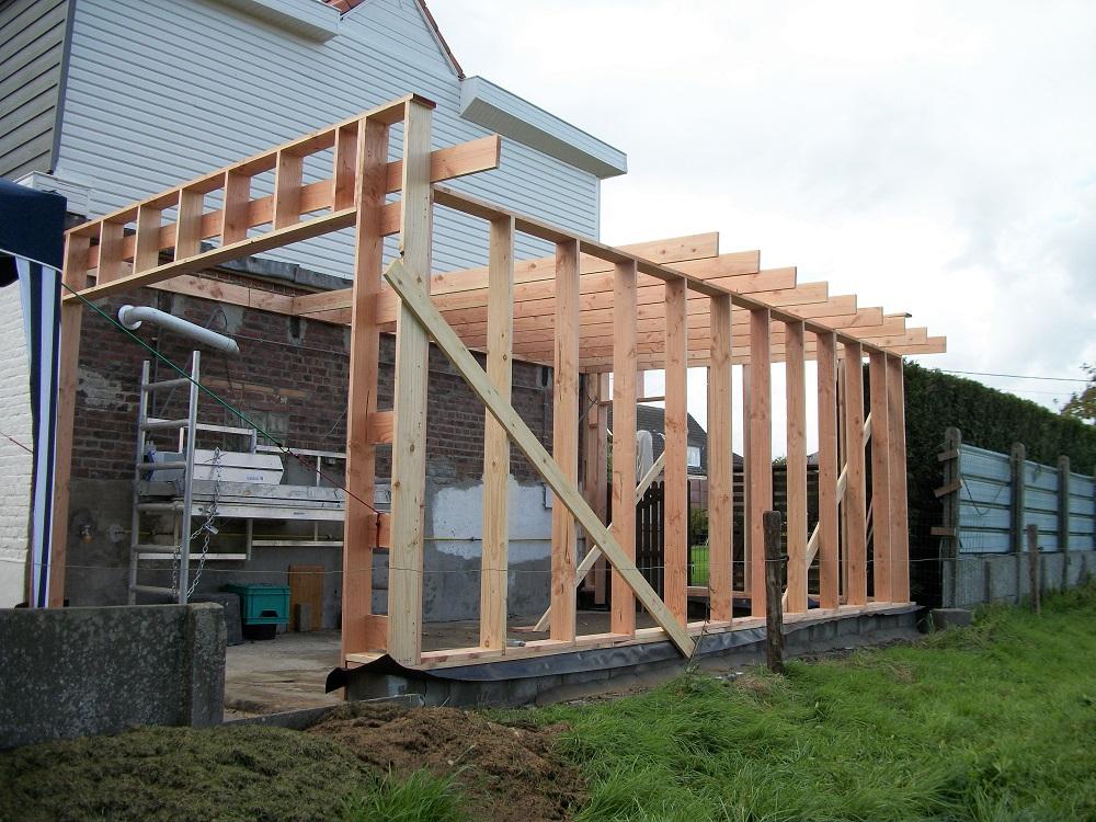 Houtskelet maken tuinhuis luchtdicht maken houtskelet een for Huis bouwen stappen